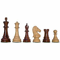 "Chessmen: Rose/Boxwood, 4"" King, Classic Chevalier"