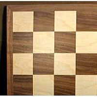 "Chess Board 17"" Walnut Maple"