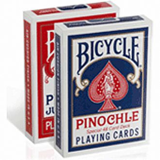Bicycle Pinochle Red/Blue Deck