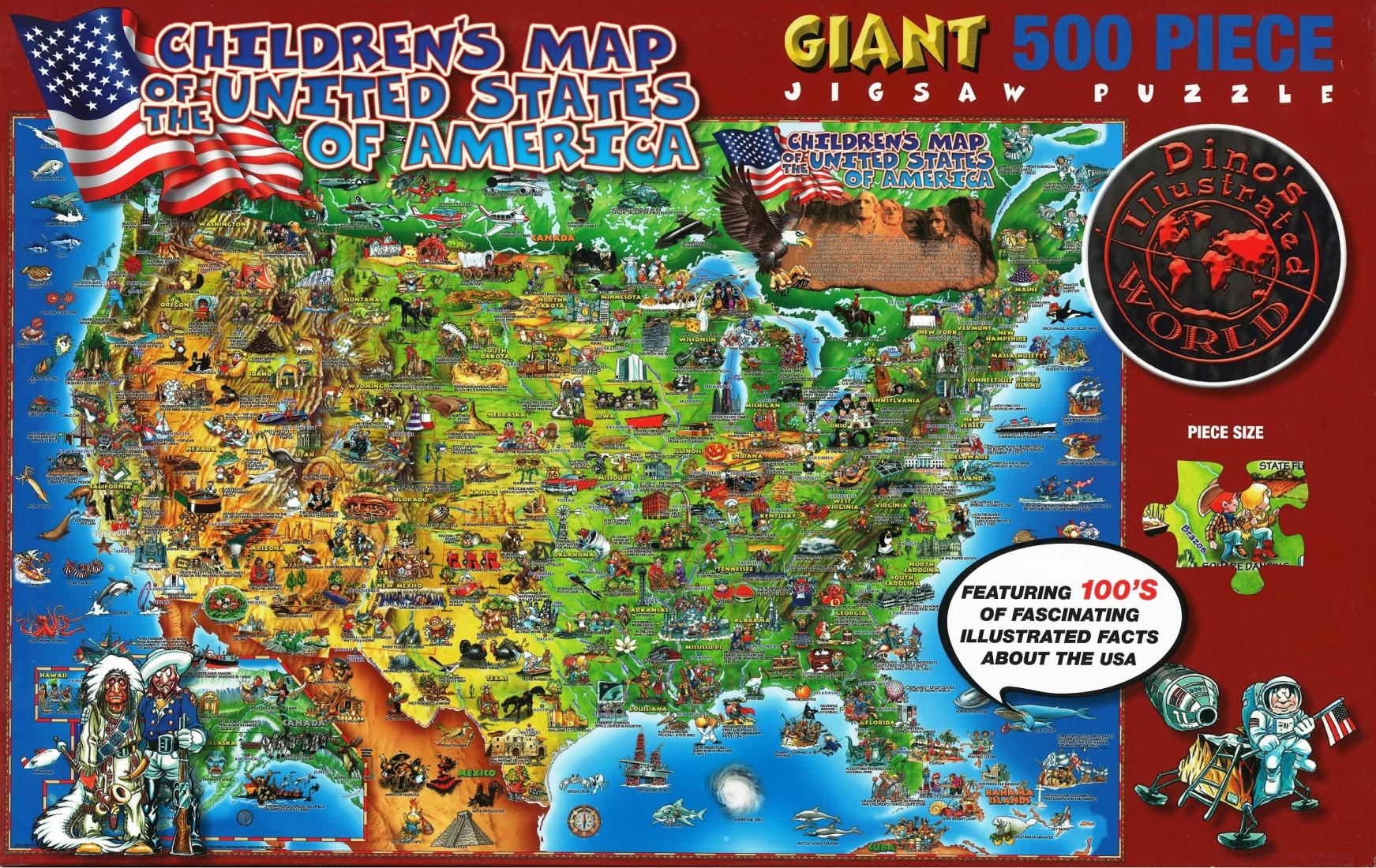 Children\'s Map - USA - Eureka Puzzles