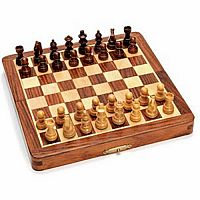 "Chess Set: 7"" Folding Wood (Magnetic)"
