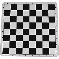 Black Silicone Chess Mat