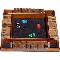 Shut the Box - Wood - 4 Player