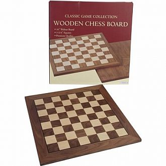 "Chessboard: 16"" Walnut"