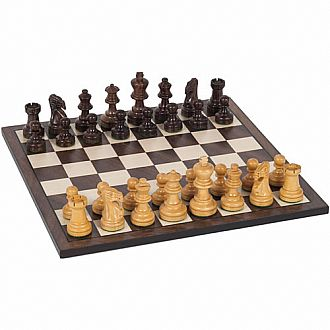 "Chess Set: 12"" Walnut/Maple"