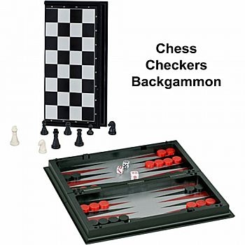 3-in-1 Combo Chess Magnetic 10''