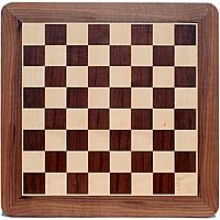 Walnut Chess Board - 16'' with Rounded Corners