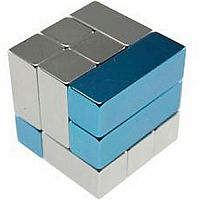Playable ART Metal Art Cube - Blue and Silver