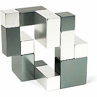 Playable ART Metal Art Cube - Silver and Iron