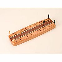 Cherry Marquetry Cribbage Board