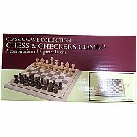 "Chess Set - 15"" Folding 3""K"