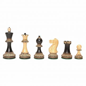 "Chessmen: 3.75"" Black/Ivory,"
