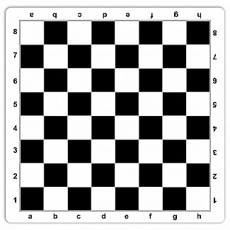 Chessboard: Mousepad Mat (Black/white) 20""