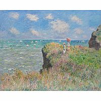 The Cliff Walk by Claude Monet