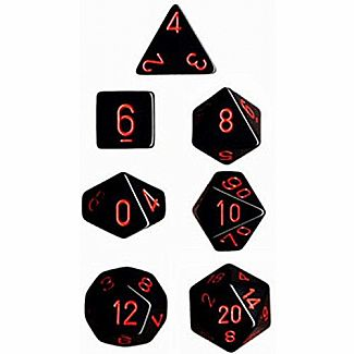 Chessex Dice: Black/Red