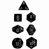 Chessex Dice: Black/Gold