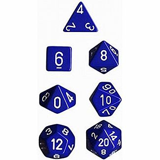 Chessex Dice: Blue/White