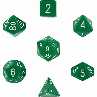 Chessex Dice: Green/White