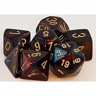 Chessex Dice: Blue Blood/Gold