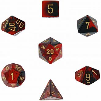Chessex Dice: Black-Red/Gold