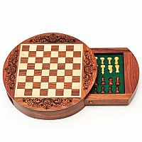 WD Round Magnetic Chess 6 inch