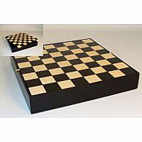 Black Maple Veneer Chess Chest