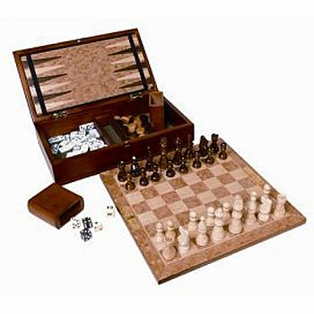 3 in 1 Chess/Checkers/Backgammon