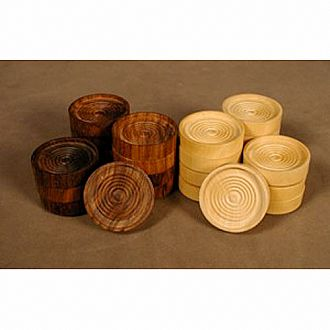 "1"" Wood Stacking Checkers"