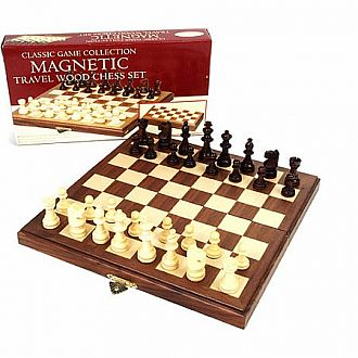 Magnetic Travel Wood Chess Set