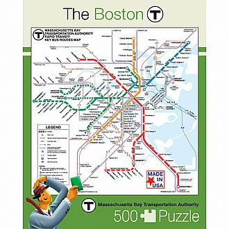 The Boston T Subway Map