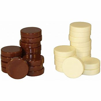 "Checkers: 1.25"" Brown/Ivory"