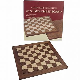 "Chess Set: 3.5"" King on 20"" Walnut Board"