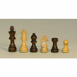 "Chessmen 2.75"" Walnut Stain Boxwood"