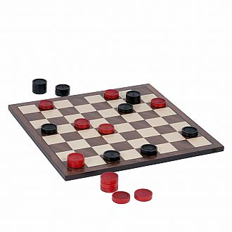Checker Set - Black/Red Classic