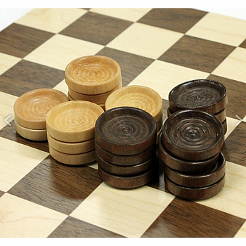 Checkers: Wood Pieces