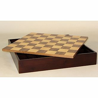 "Chess Chest: 16.5"" Walnut/Mapl"