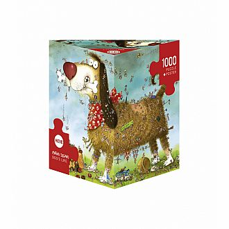 Dog's Life Degano - Triangular Box (Heye Puzzles  1000pc)