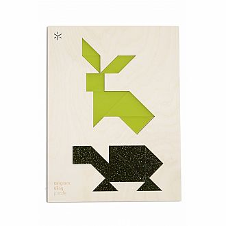 Double Animal Tortoise & Hare Tangram Puzzle