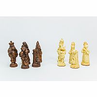 "Chessmen: Cats & Dogs 4"" Stone"