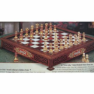 Chess Set - Franklin Mint Coca-Cola