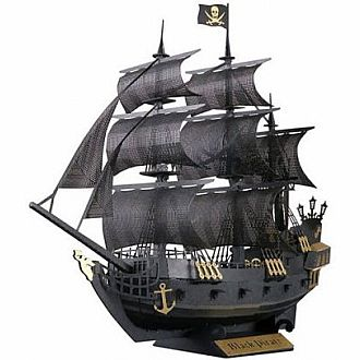 Papernano: Black Pirate Ship