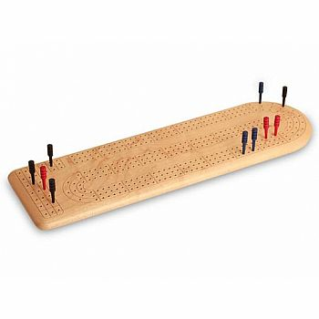 Cribbage - 3 Track Board Maple