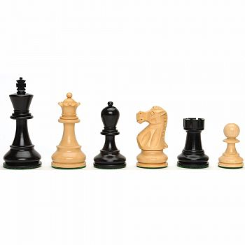 "Chessmen Black/Nat 3.25""K"
