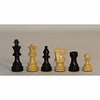 "Chessmen 3.25"" Black & Boxwood"