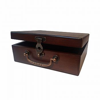 Wood Treasure Box 8 3/4""