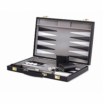 Black Backgammon Set 15""