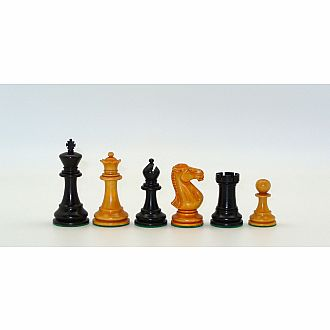 "Chessmen: 3.75"" Black/Boxwood"