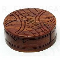 Wood Fish Puzzle Box
