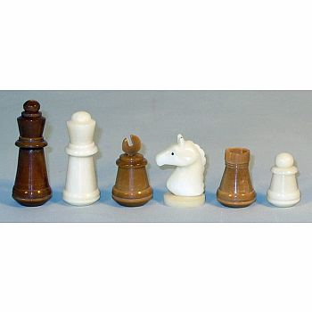 Chess set - Taqgua Nut Pieces with Antiqued Leatherette Map Board