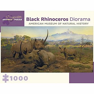 Black Rhinoceros Diorama (Pomegranate - 1000pc)